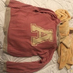 """A"" gingham sweatshirt"